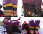 NEW-Kids Fleece Rain Boot Liners,  Solid or Print Fleece Rain Boot Liners, Boot socks, Youth boot ,boot liners, wellie socks, Children socks