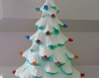 "Vintage Celluloid 13"" Lighted Christmas Tree"