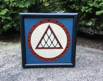 Solitaire, Game Board, Wood, Primitive, Folk Art, Wooden, Game Boards
