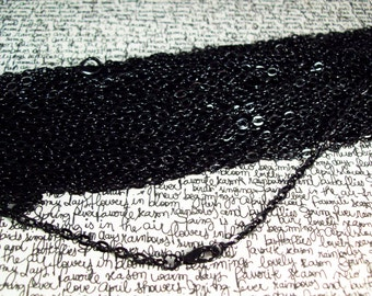 """100 30"""" Black ROLO Chain Necklaces with Lobster Clasp 3mm"""