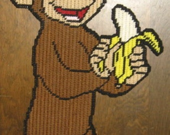 Curious George Plastic Canvas Pattern