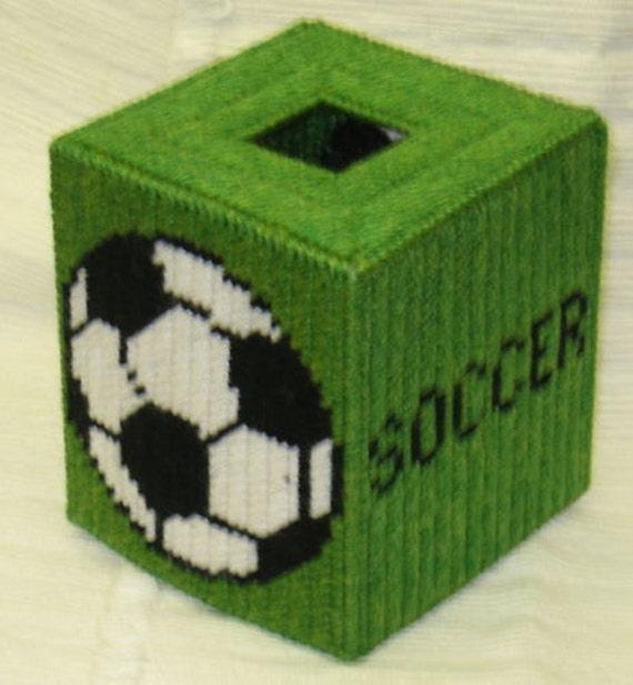 Soccer Tissue Box Cover Plastic Canvas Pattern