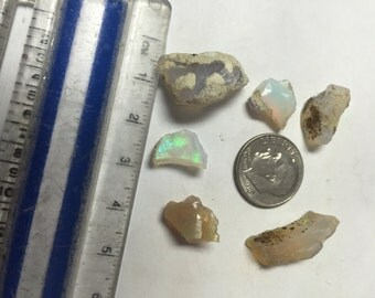 6pcs 25ct Natural Ethiopian Welo Opal Crystals