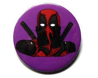 deadpool button pins illustration