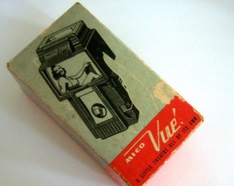 Vintage Mico Vue Binocular Vision Original Box Slide Viewer