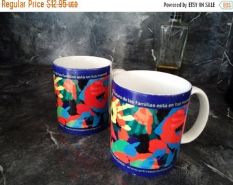 Colorful Coffee Tea Mug The Future Of Families Children Hand Prints Train Up A Child 12.95