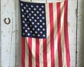 50 Star Vintage American Flag US USA 38 x 58