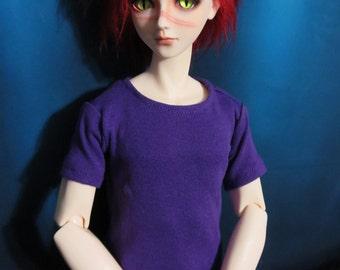 70cm BJD Plain Purple Tee Shirt