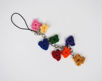 Crochet Hearts & Stars Cell Phone Strap