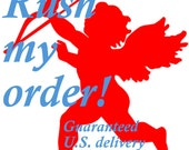 RUSH MY ORDER move it to the front of the line  - Guaranteed delivery before Valentines day in the U.S.