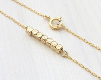 Gold bracelet, Minimalist jewelry, Nugget bracelet, Gold layering bracelet, Simple bracelet, Minimalist bracelet, Beaded bracelet