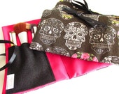Day of The Dead - Mexican - Make Up Bag Zipper Pouch - Cosmetics Bag
