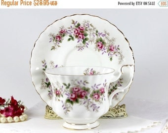 Royal Albert, Lavender Rose, Bone China Teacup, Tea Cup and Saucer, English Bone China 13232