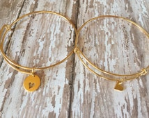 Mother Daughter Bracelet Set, Mommy Jewelry, Mother Daughter Jewelry Set, Gold Mom Daughter Set, 14K Gold Filled, Adoption Gift