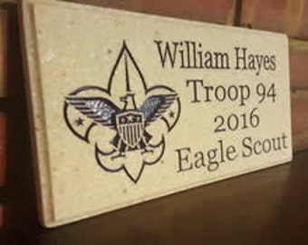 Eagle Scout Plaque  - Customized for your Scouts Name
