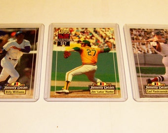 3 Assorted-1995 All Time Greats Collector's Choice-Jimmy Dean Baseball Cards