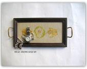Antique Arts &Crafts Style Men's Dresser Caddy - HandMade Dresser Tray