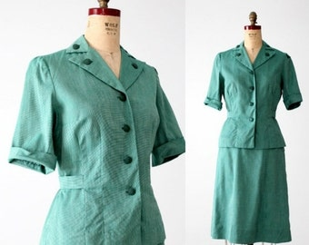 SALE vintage 50s Girl Scouts uniform, camp shirt and skirt