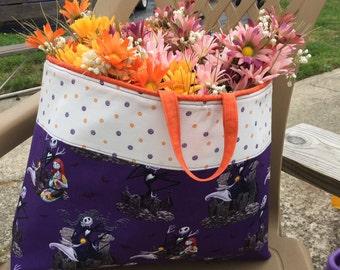 tote bag,Nightmare before christmas fabric basket, Halloween basket