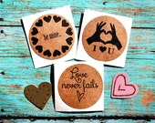 Valentine Stickers, Valentine Envelope Seals, Valentine Labels, Love Stickers, Be Mine, Love Never Fails