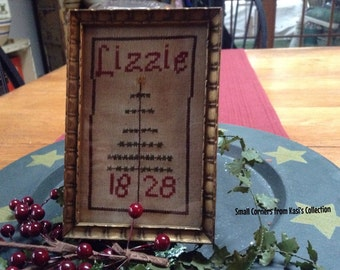 Lizzie Christmas sampler