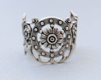 Flower Ring,Flower Silver Ring,Jewelry Gift, Ring,Silver,Flower,Antique Ring,Silver Ring,Blossom,Wedding,Bridesmaid.
