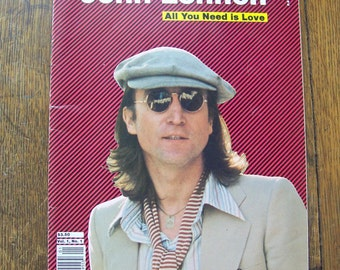 Vintage John Lennon Tribute Magazine All You Need Is Love 1980