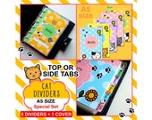 SIZE: A5 Kitty Dividers (Top or Side Tabs / Special Set) Cute Kawaii Cat Filofax Organizer