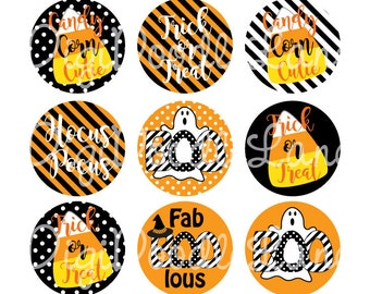 Halloween FabBOOLous Bottlecap Images Halloween Bottle Cap Images for Hairbows Jewelry Magnets-Halloween Bottle Cap Images INSTANT DOWNLOAD