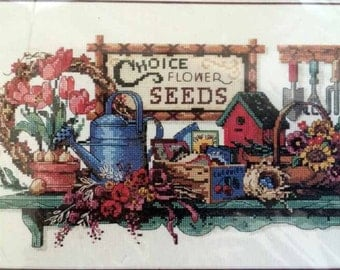 """Dimensions """"Garden Collectibles"""" counted cross stitch kit"""
