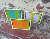 ARF Stencil Card Set With Black And Pale Yellow Trim.