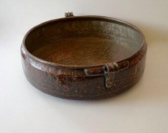 Copper Pot Price Reduced Interior Design Rustic Large Urli Shipping Included in the U.S.