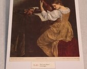 """1937 Art Print """"The Lute Player"""" by Caravaggio"""