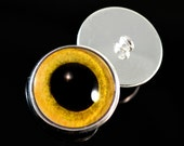 Sew on Owl Eyes with Loop Glass Eyes in 16mm For Stuffed Animal Plushies Crochet Creatures Taxidermy and Jewelry Making