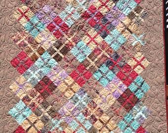 Funky Squares Lap Quilt