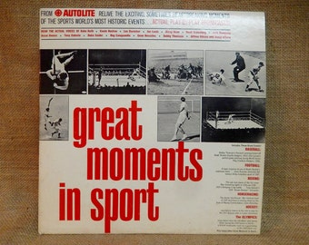 "AUTOLITE presents ""Great MOMENTS in SPORT"" - 1965 Vintage Vinyl Record Album...Limited Edition"