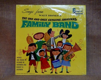 Walt Disney'S - The One and Only Genuine Original Family Band - 1968 Vintage Vinyl Record Album.Inc Insert Booklet