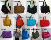 Custom Nuch bag in Red nylon and Beige