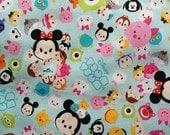 Disney all star tsum tsum print light blue colour one yard