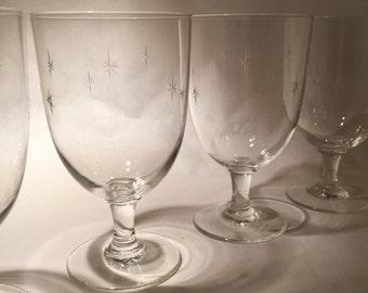 6 Sasaki Star Glasses - Goblets