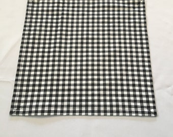Black and White Table Square, Checkered Table Square, Party, Shower, Wedding, Custom Sizes Available