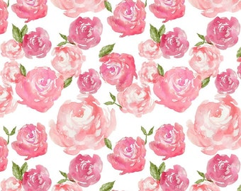 Peony Crib Skirt. Crib Bedding. Floral Nursery Bedding. Girl Baby Bedding. Peony Nursery. Pink Crib Bedding. Rose Nursery Decor.