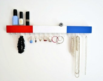 Jewelry Organizer Wall Mount -Jewelry Holder - Necklace Earring Holder - Modern - Pick your Colors