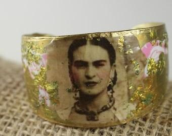 Frida Kahlo  Bracelet Bohemian Brass image Braclet