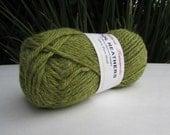 2 skeins of Knitting Worsted Weight Yarn Filatura Lanarota Wool Heathers in green