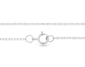 Bulk Quantity Sterling Silver 1.5x1.2mm 22 Inch Flat Cable Chain - 5pcs Discounted Prices (2723)/5