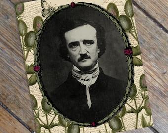 Edgar Allan Posies - Vintage Style Antique Edgar Allan Poe Print from Curious London