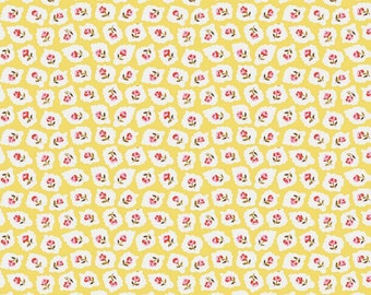 Milk Sugar Flower Yellow Milk Drops Elea Lutz Penny Rose Fabrics HALF Yard