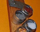 """24"""" Magnetic Spice Rack with 12 Tins and Custom Engraving"""