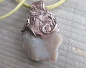 Petrified wood Amulet wiccan jewelry Pagan necklace magick spells witchcraft nature jewelry fairy costume healing crystals witchy jewelry